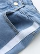 Secret Hideaway Blue Pockets Color-block Jeans