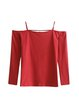 Favoriate Distraction Solid Cold Shoulder Top