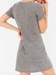 Hidden Talent Gray Cutout Sexy Short Sleeve Solid Dress