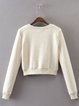 Rather Ravishing Beige Solid Lace Up Sweatshirt