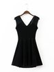 Just for Tonight Crisscross Back Velvet Dress