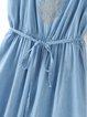 Favorite Dream Spaghetti Denim Dress with Belt