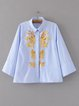 Moment for Life Blue Sequins Shirt