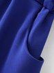 Name the Day Royal Blue Pockets V Neck Romper