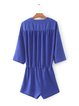Name the Day Royal Blue Pockets V Neck Romper