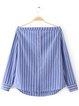 All Time Best Blue Stripes Off Shoulder Top