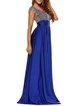 Amazing Head-turner Blue Scoop Neckline Slit Dress