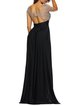 Amazing Head-turner Black Slit Scoop Neckline Dress