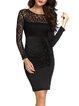 Luxury Explanation Black Ruched Appliqued Elegant Dress