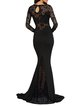 Epic Night Black Mermaid Long Sleeve Dress