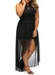 Special Occasion Black High Low Keyhole Dress