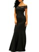 Rock It Black Off Shoulder Mermaid Dress