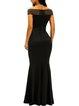 Rock It Black Off Shoulder Mermaid Dress