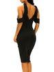 Flaunt Your Sexy Figure Black Cold Shoulder Dress