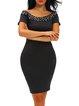 My Happiness Black Studded Off Shoulder Dress