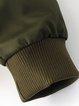 Turn Back Time Zipper Long Sleeve Bomber Jacket