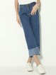 Rank and Style Blue Denim Wide Leg Jeans