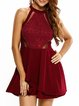 Perfect Date Burgundy Sleeveless Layered Dress