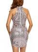 Curve-hugging Champagne Glitter-finished Dress