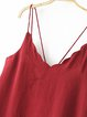 Choose You Red V Neck Scalloped Cami