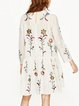 Brighter Sight White Embroidered Two Piece Dress
