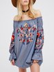 Shine On Me Blue Off Shoulder Shift Dress