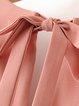 Witchcraft Pink Bell Sleeve Solid V Neck Romper
