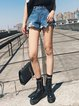 Treat You Good Blue Ripped Denim Shorts