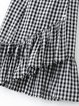 Super Lady Black Layered Plaid Elegant Flounce Skirt