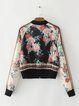 Going For Floral Printed Bomber Jacket