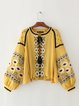 Stop Right There Yellow Balloon Sleeve Boho Jacket
