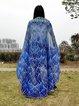 Sun-sational Blue Peacock Print Chiffon Blanket