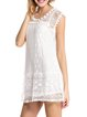 Lonely Hour White Lace Sleeveless Pierced Dress
