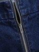 Morning Rush Blue Pockets Embroidered Denim Skirt