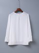In A Tizzy White Solid 3/4 Sleeve Blouse