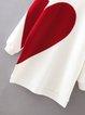 Run A Muck White Color-block Shift Sweatshirt