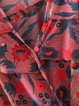 Fun Fair Coral V Neck Floral Frill Sleeve Bodysuit