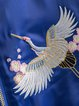 Run Around Blue Embroidered Bomber Jacket