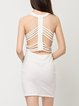 Original Sin White Caged Back Sleeveless Dress