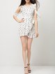 Air Of Romance White Polka Dots Flounce Wrap Dress