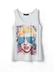 Up To Mischief Printed Tank Top