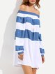 Shell Shocked White Shirred Off Shoulder Dress