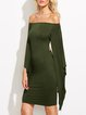Bad Habits Green Asymmetric Cutout Waist Dress