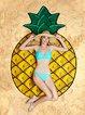 Pineapple Love Yellow Blanket