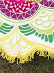 Smooth Sea Yellow Tribal Printed Fringed Blanket