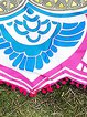 Smooth Sea Pink Tribal Fringed Blanket