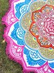 Lotuses By The Sea Pink Round Blanket