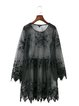 Burn Your Name Black See-through Bell Sleeve Dress