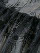 Burn Your Name Black See-through Bell Sleeve Dress