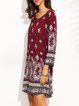 Read My Mind Tribal Long Sleeve Dress